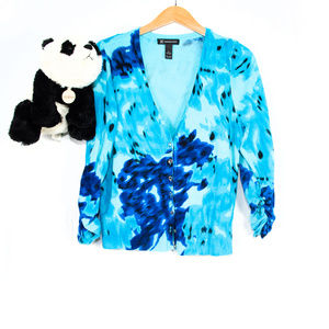 Blue INC brush stroke cardigan
